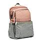 Рюкзак для Мамы на Коляску для Детских Принадлежностей Оригинал Machine Bird (078) Розовый с Серым, фото 2