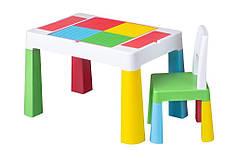 Детский игровой стол и стульчик комплект мульти колор