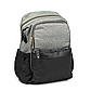 Рюкзак для Мамы на Коляску для Детских Принадлежностей Оригинал Machine Bird (078) Серый с Черным, фото 2