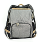 Рюкзак для Мамы на Коляску для Детских Принадлежностей Оригинал Machine Bird (078) Серый с Черным, фото 6