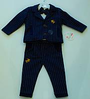 Класичний ясельний костюмчик для хлопчика на ріст 62.68 .74.80 см