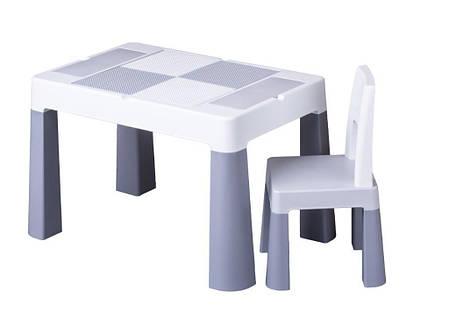 Детский столик и стульчик для игр комплект серый, фото 2