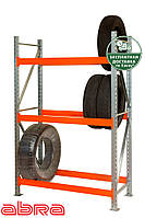Стеллаж шинный для склада/магазина/гаража SN-Ш-1 4000х1840х500, оцинкованный, 5 ярусов, до 350 кг/ярус