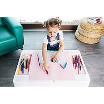 Детский стол и стульчик для игр комплект голубой, фото 2