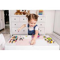 Детский стол и стульчик для игр комплект голубой, фото 3