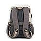 Рюкзак для Мамы на Коляску для Детских Принадлежностей Оригинал Machine Bird (076) Белый с Серым, фото 4