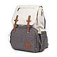 Рюкзак для Мамы на Коляску для Детских Принадлежностей Оригинал Machine Bird (076) Белый с Серым, фото 2