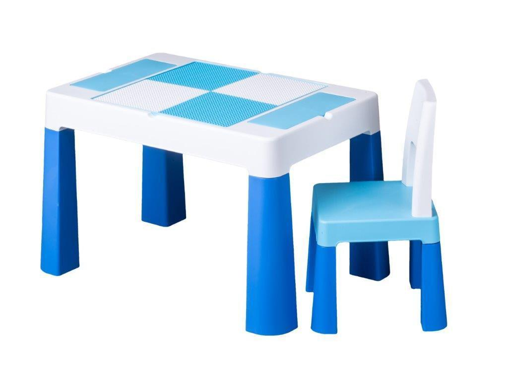 Детский стол и стульчик для игр комплект голубой