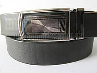 """Ремень мужской брючный автомат чёрный (гладкая кожа, 35 мм.)   """"Remen"""" LM-638"""