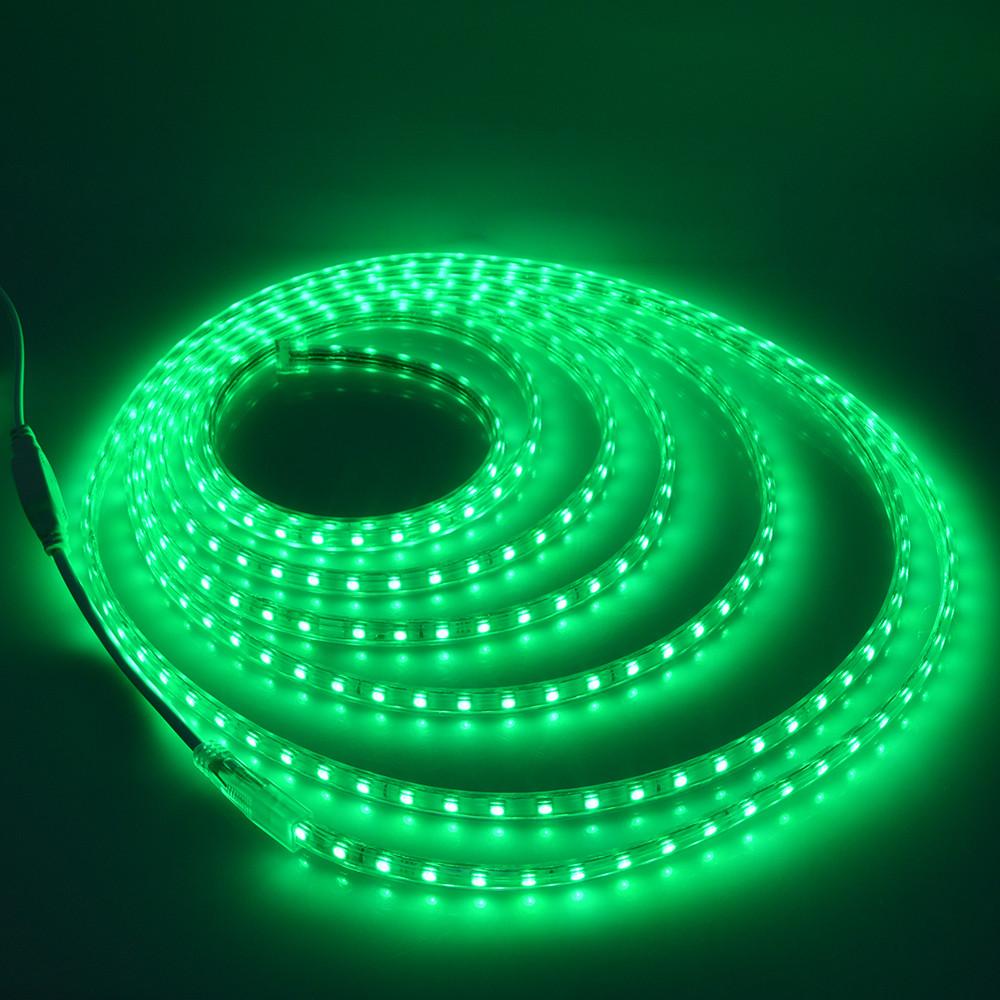 Гирлянда Дюралайт светодиодный шланг, Зеленый, круглый, 20м.
