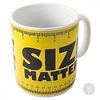 "Чашка гігант ХХL ""Size Matters"", Кружка-гигант ""Размер имеет значение"""