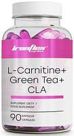 Жиросжигатель IronFlex - L-Carnitine + Green Tea + CLA (90 капсул)