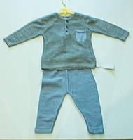 Вязаный ясельный  костюмчик  для мальчика  на  рост 62.68 .74.80  см