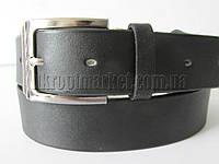 """Ремень мужской брючный шпенек (гл.кожа, 35 мм. черный) №М17751  """"Remen"""" LM-638"""