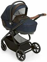 Универсальная коляска Cam 3 в 1 Techno Soul  рама чёрный карбон, цвет синий