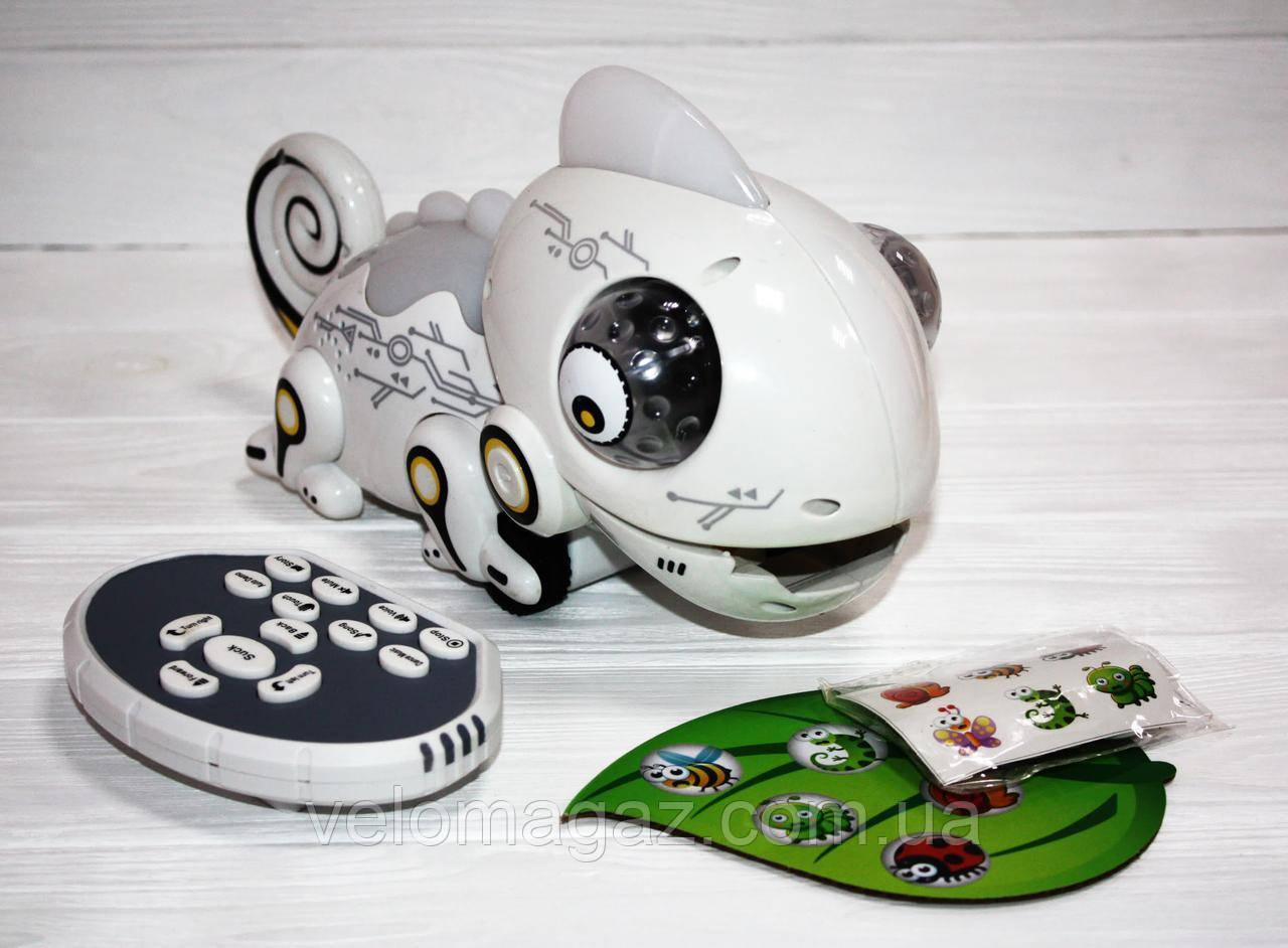 """Інтерактивна іграшка хамелеон 709, """"їсть комашок"""", 29 см, на радіокеруванні, змінює колір"""