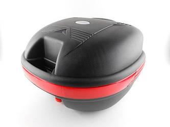 Кофр для мотоцикла (багажник) HF-809 черный мат