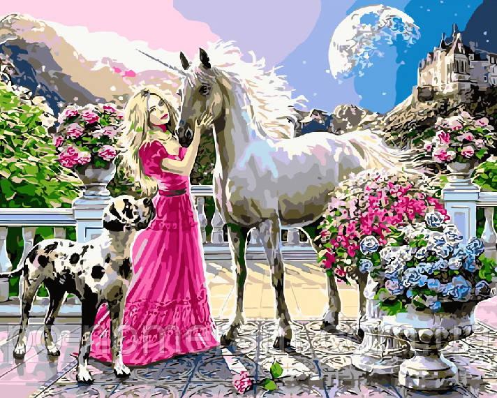Раскраска по номерам Принцесса и ее единорог (BRM8360) 40 ...