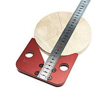 Деревообрабатывающий центр Scriber 45 градусов Угловая линейка Калибр Линейка Деревоизмерительный писец Инструмент-1TopShop