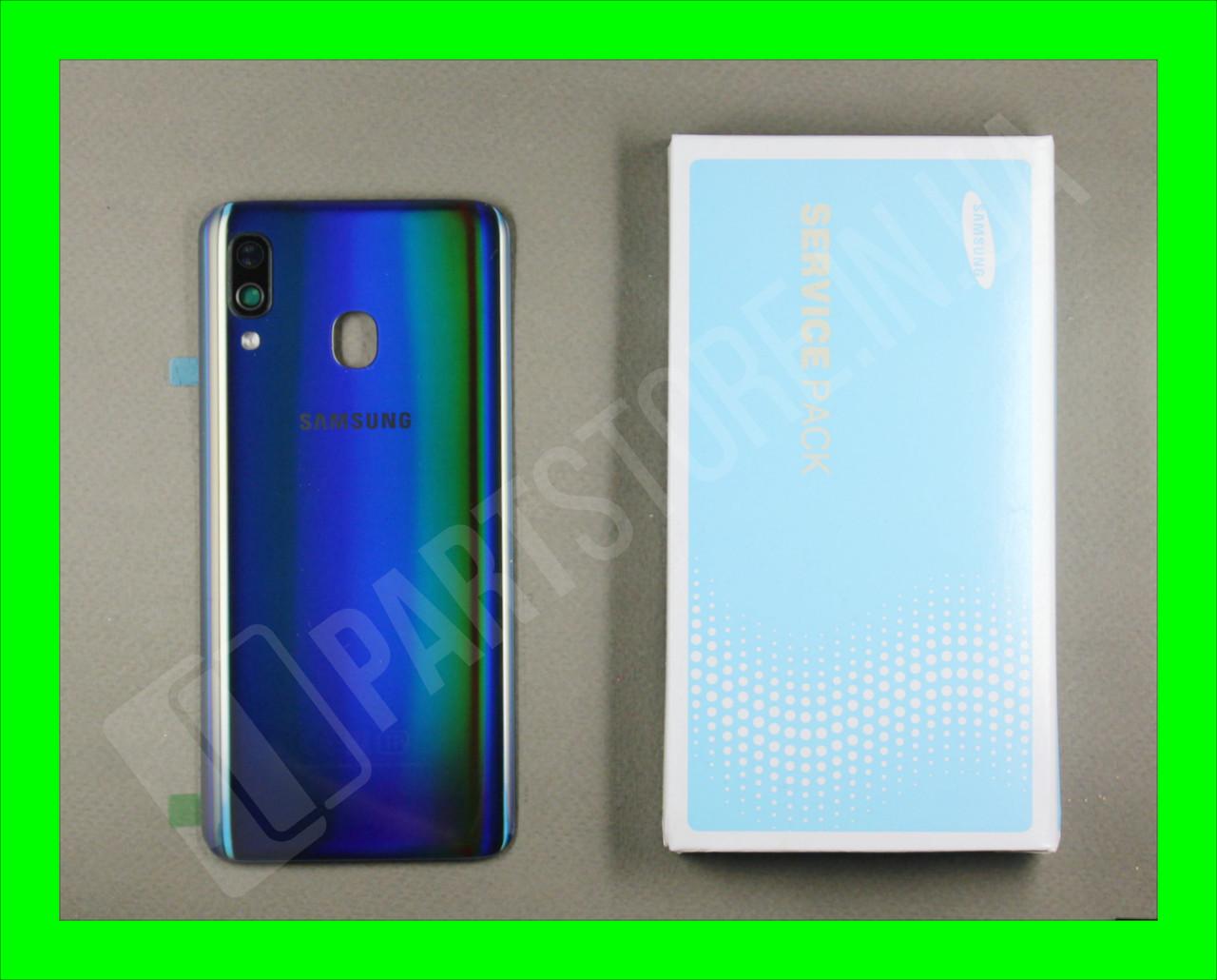 Cервисная оригинальная задняя Крышка Samsung A405 Black A40 2019 (GH82-19726A)