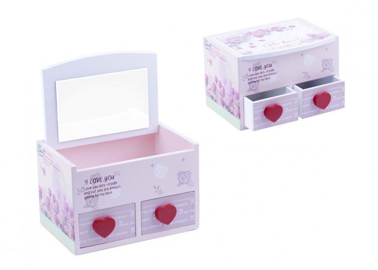 Шкатулка розовая D25399