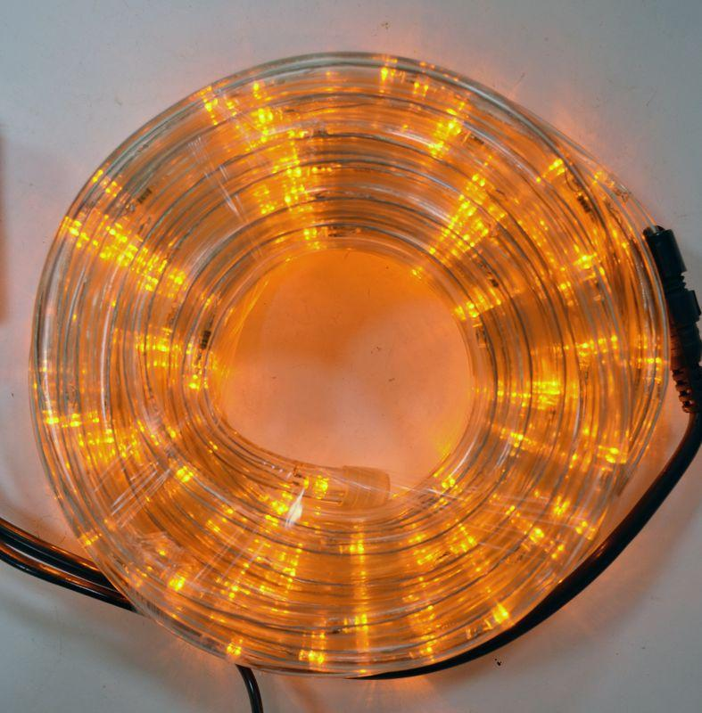 Гирлянда Дюралайт светодиодный шланг, Теплый белый (Золотой ), круглый, 10м.