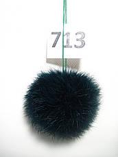Меховой помпон Кролик, Т. Зеленый, 8/9 см, 713, фото 3