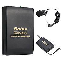 Бездротовий петличний мікрофон Bolun WR-601 для смартфонів, планшетів, камер + 2 перехідника