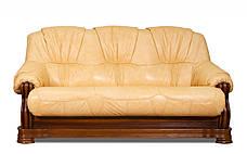 Кожаный диван Барон , раскладной диван, мягкий диван, мебель из кожи, диван, фото 2