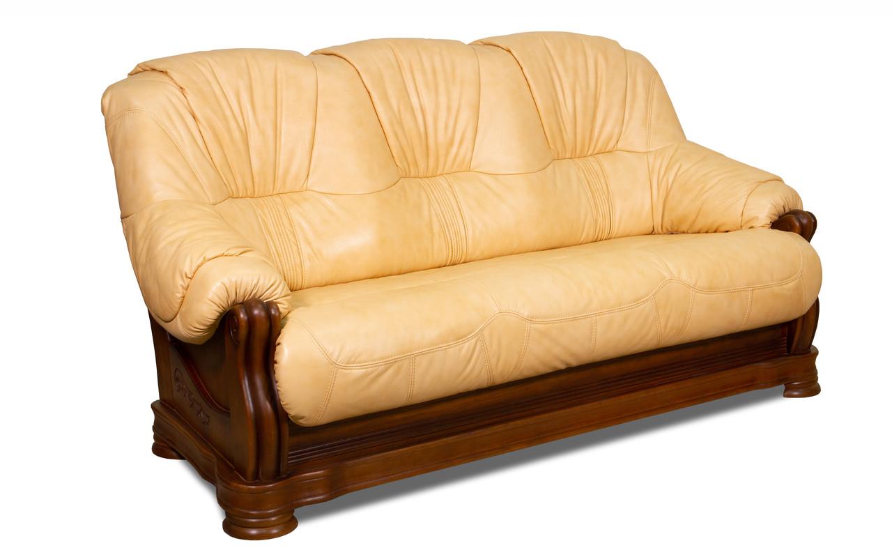 Кожаный диван Барон , раскладной диван, мягкий диван, мебель из кожи, диван