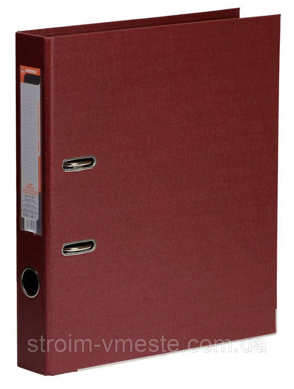 Папка-регистратор A4 NORMA Lux 5070 РP 5 см бордовая