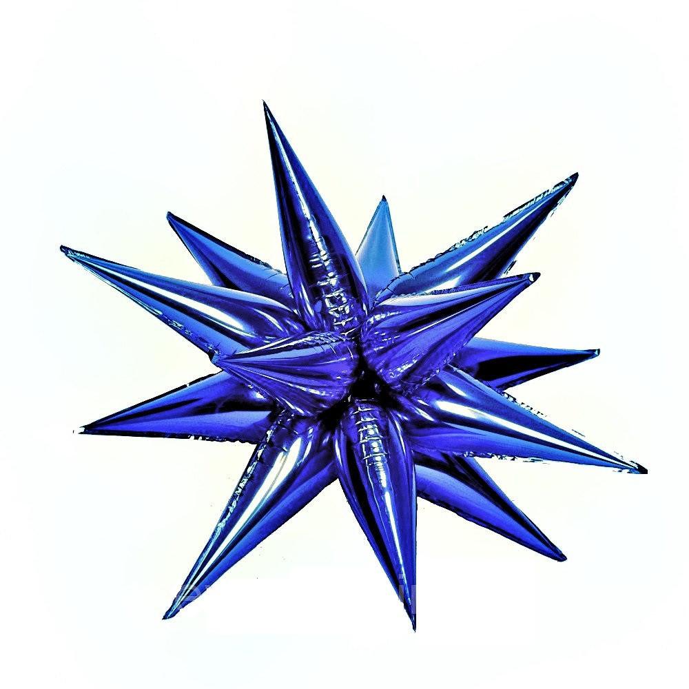Звезда 3D синяя 100х100см
