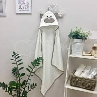 Полотенце-уголок Мишка молочное