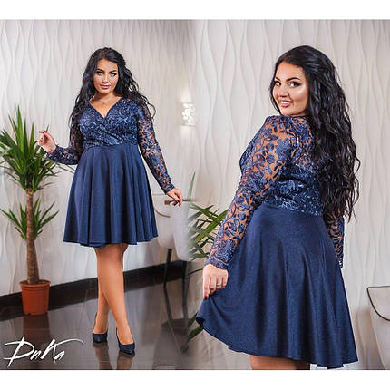 Платье  БАТАЛ кружево 04с547, фото 2