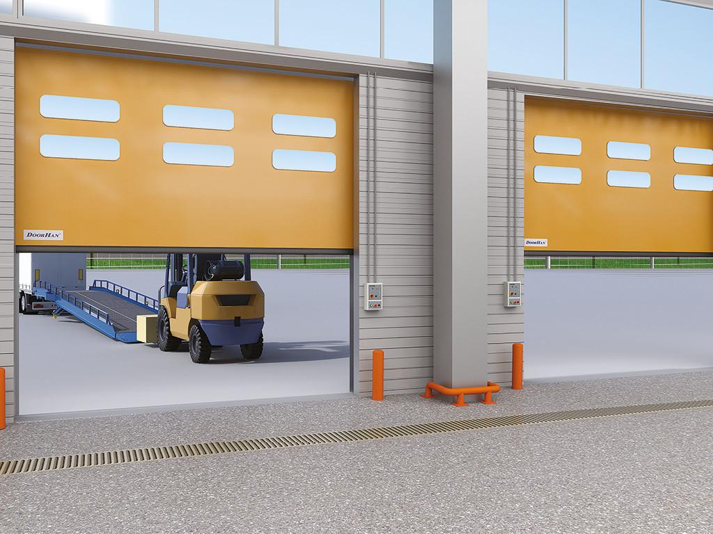 Скоростные ПВХ ворота DoorHan для наружного использования серии SpeedRoll SDO
