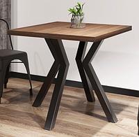 Квадратный стол Металл-Дизайн Свен-4 в стиле ЛОФТ