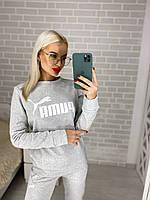 Женский зимний теплый спортивный костюм на флисе серый черный бордо 42-44 44-46 46-48, фото 1