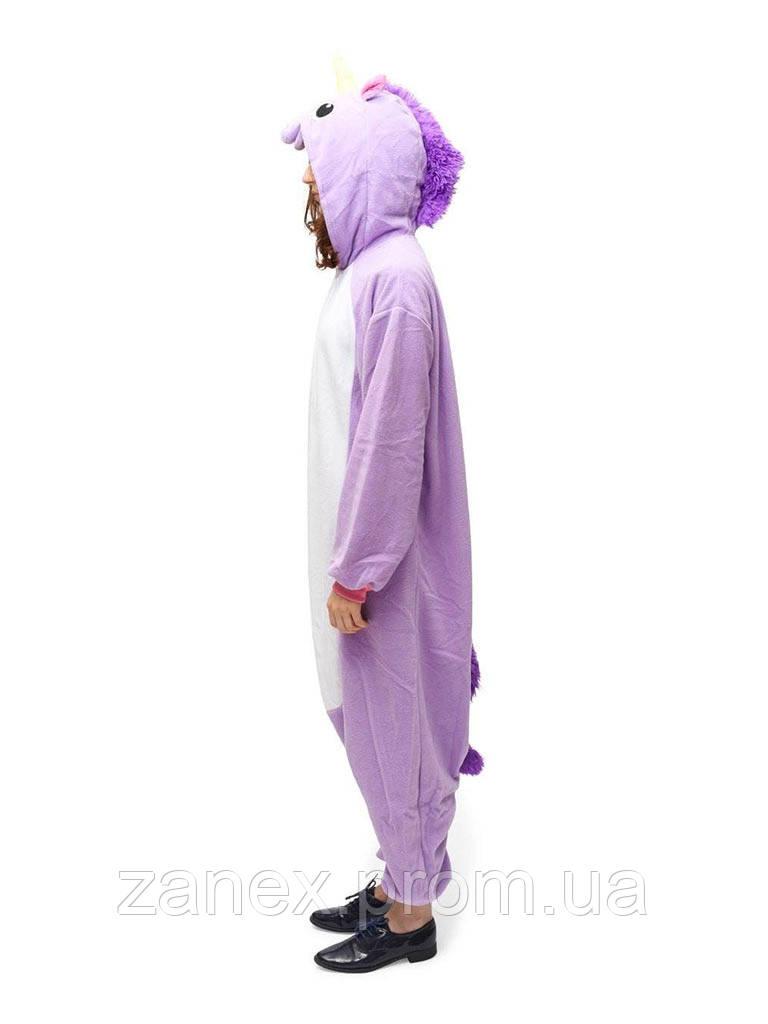 Пижама Кигуруми Фиолетовый Единорог взрослая