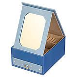 Шкатулка трансформер раскладная для украшений комодик для прикрас 18х14х8 см 8030-010 органайзер, фото 3