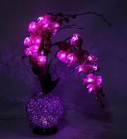 Ночник Орхидея с LED-подсветкой Bing Rong 81 см 1502478 лэд светильник LED сиреневый цветок