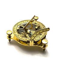 Солнечные часы с компасом бронзовые (12х12х4 см.) ( 26756)
