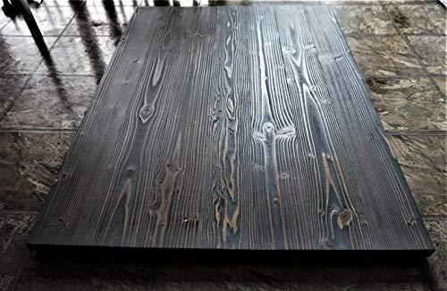 Чорна стільниця для кухні з натурального дерева