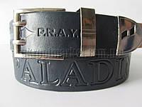 """Ремень мужской джинсовый шпенек (кожа, 40 мм. синий) №М17763  """"Remen"""" LM-638"""