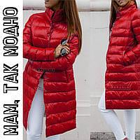 Женская зимняя долгая куртка