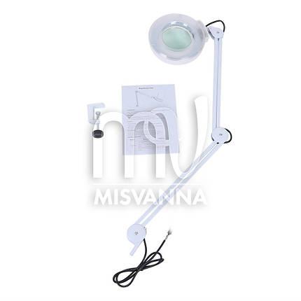 Светодиодная лампа-лупа LD-86 с креплением к столу или к кушетке, фото 2