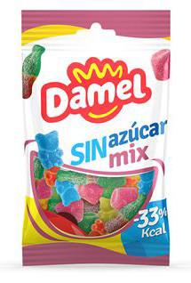 Жуйки Damel 100г без цукру МixSinAzucar /SugarFree, 18шт/ящ 63137