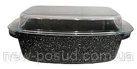 Алюминиевая гусятница 32 см с стеклянной крышкой Bohmann BH 6232 MRB