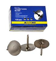 Кнопки никелированные 100 шт ВМ.5102 Buromax