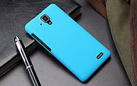 Чехол накладка бампер для Lenovo A536 голубой