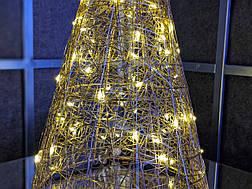 Елка металлическая с гирляндой, железная, лофт, loft, питание от USB, 100 LED, 45 см., настольная., фото 3